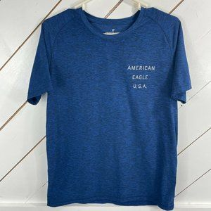 American Eagle Outfitters Mens Blue Crew Shirt M